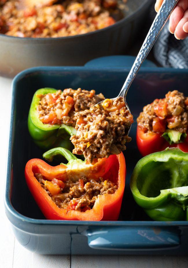 filling each pepper