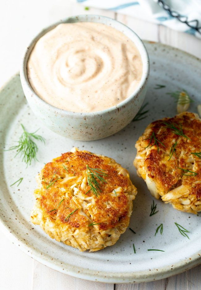 fried or baked crab cake recipe