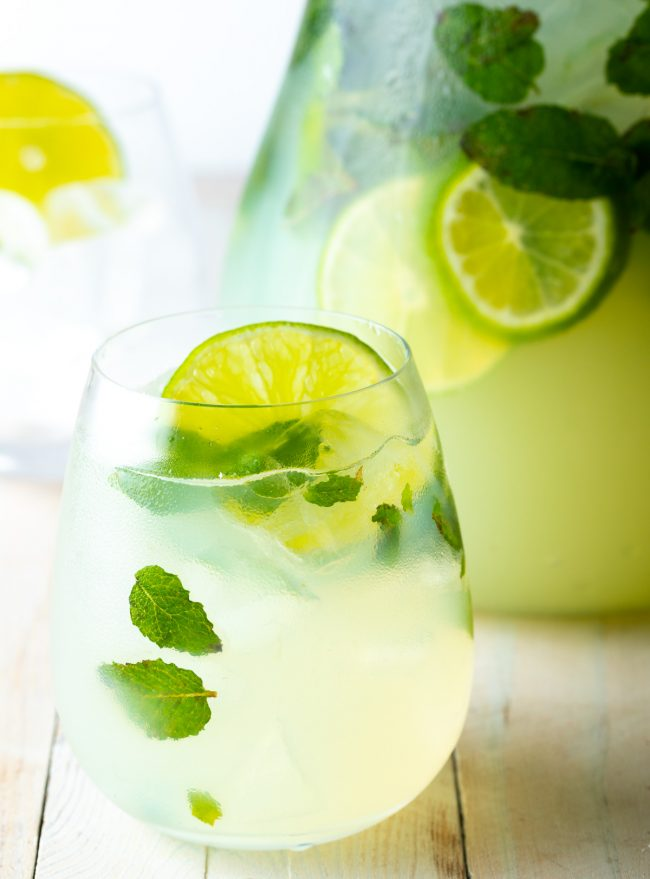 pitcher of mint mojitos