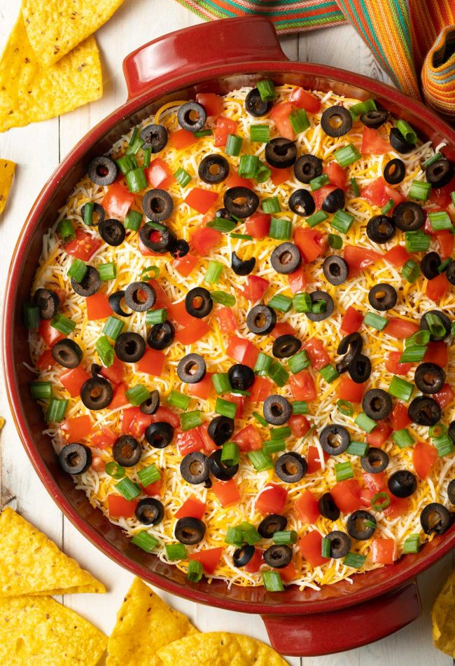 retro taco pizza dip recipe