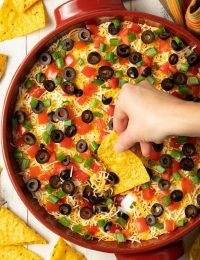 retro taco pizza dip recipe