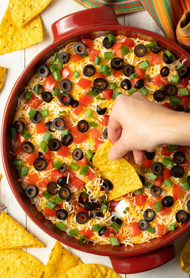 party appetizer layered dip