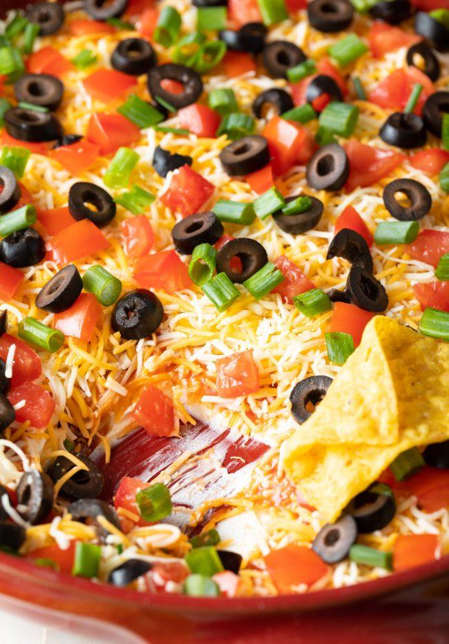 retro recipe for taco dip
