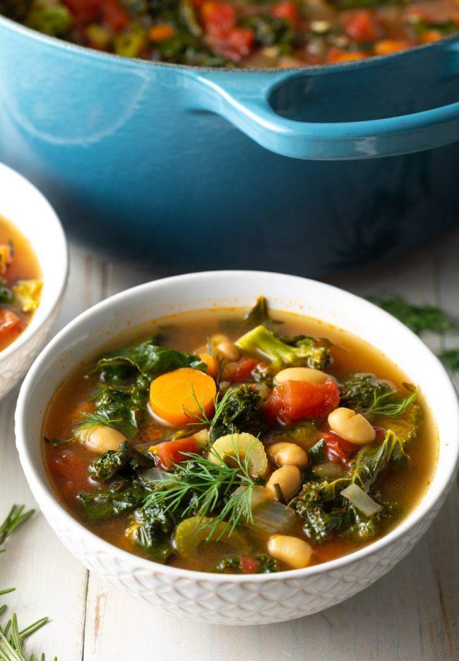vegan white bean and kale soup recipe