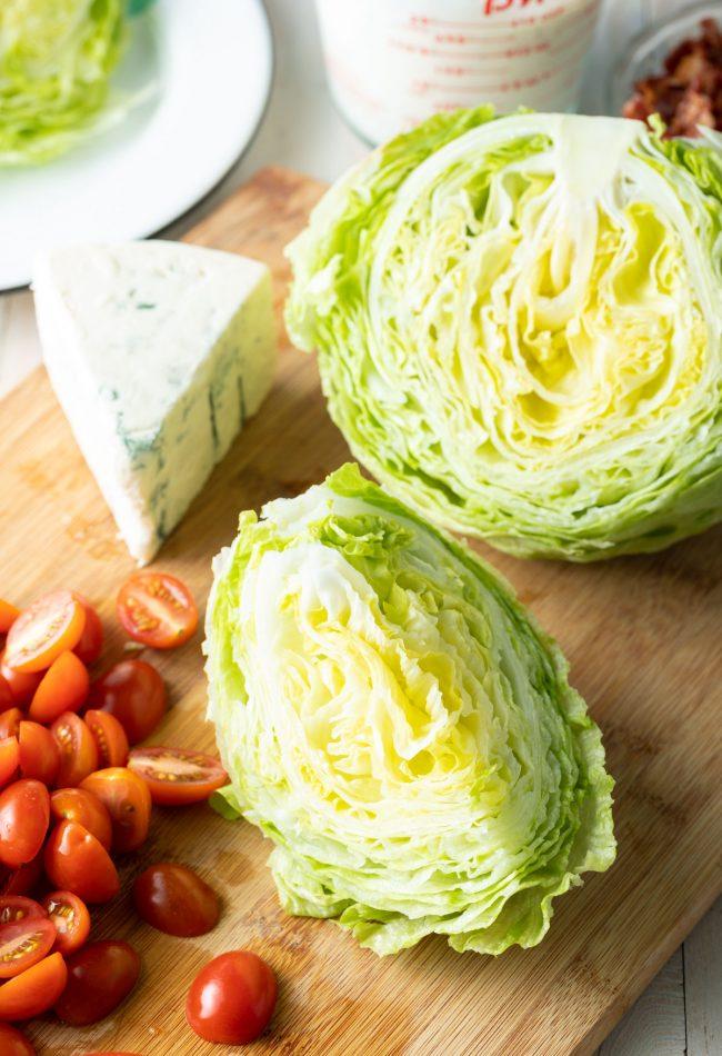 fresh iceberg, cheese, tomatoes
