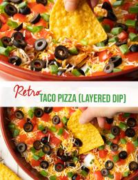 retro taco pizza dip