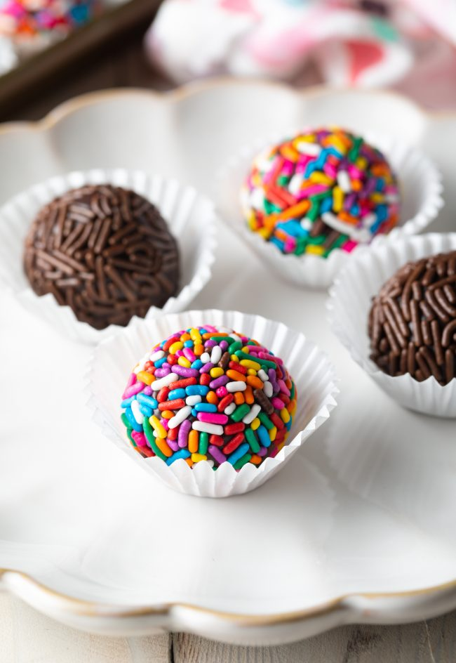 truffle candy from brazil homemade with sprinkles