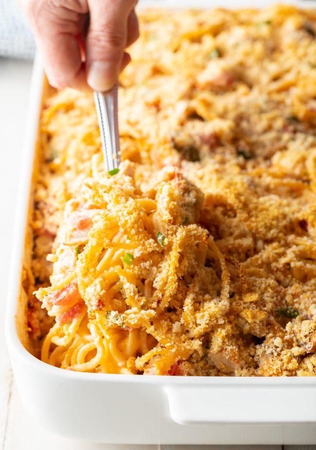cheesy chicken spaghetti with rotel recipe