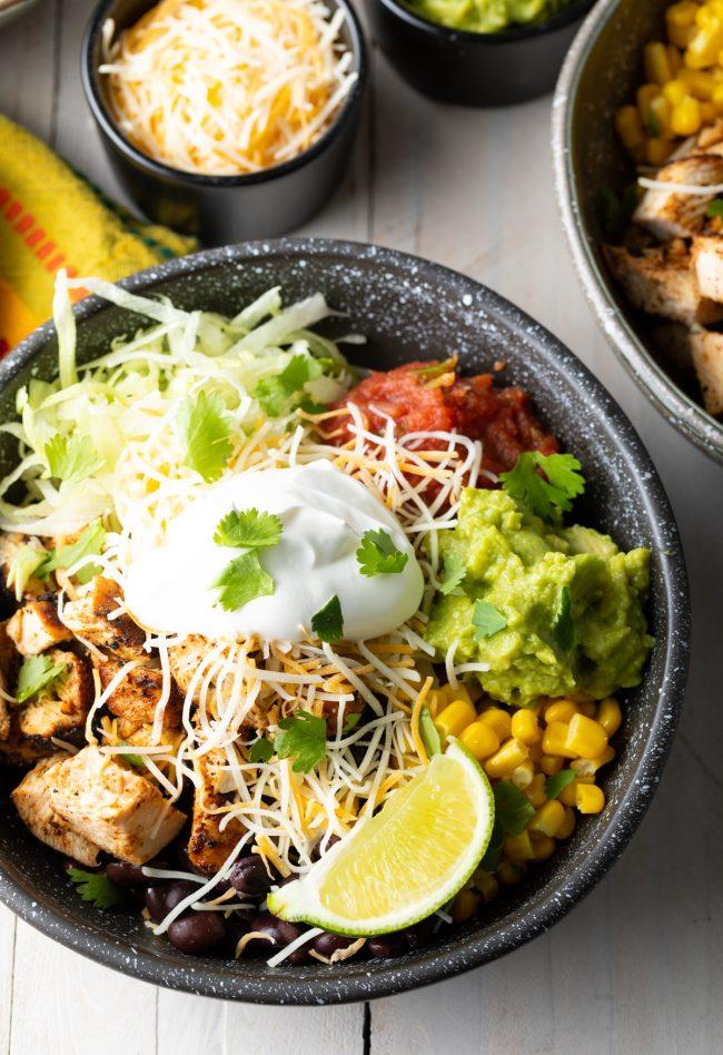 chicken chipotle burrito bowls