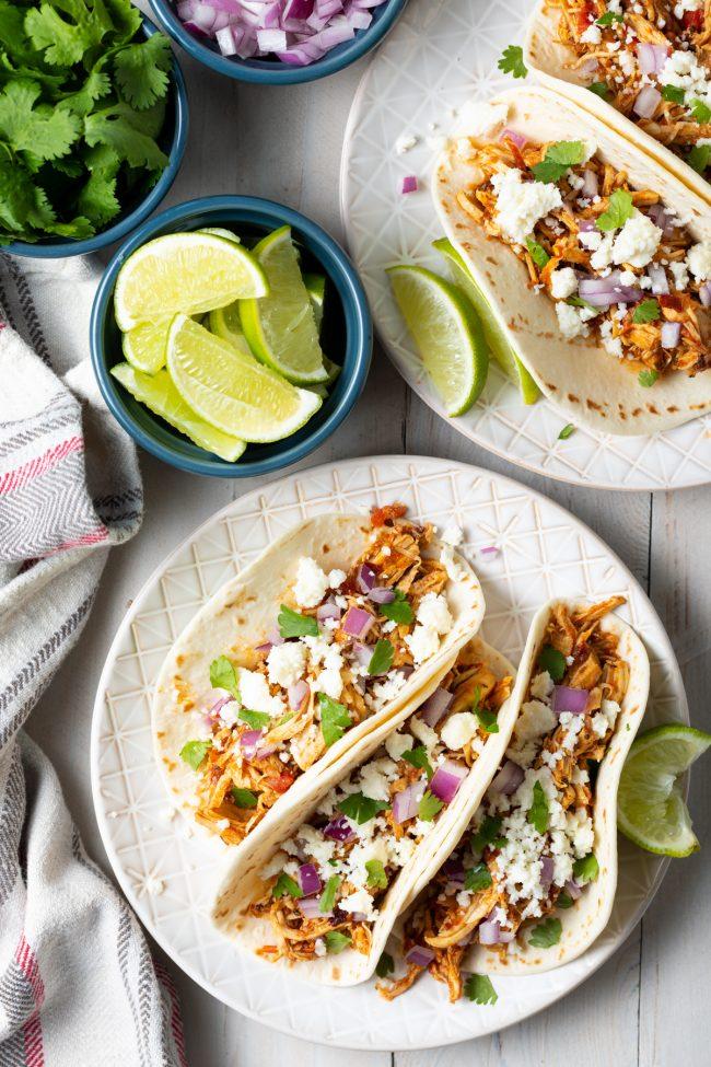 smoky chicken tinga taco recipe