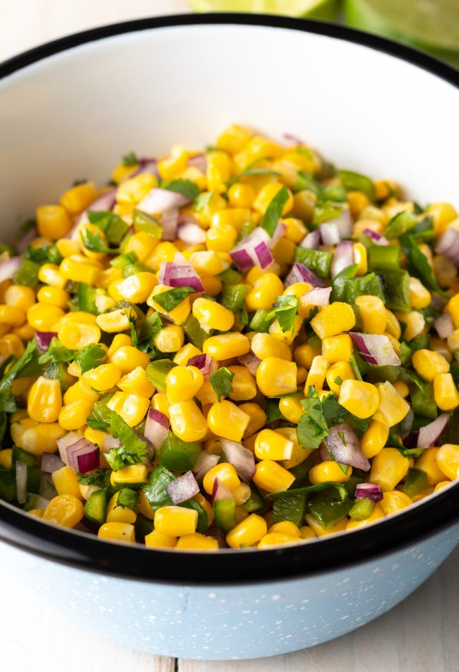corn salsa with roasted peppers