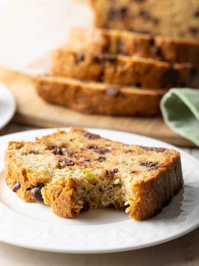 zucchini bread with lemon and chocolate chips