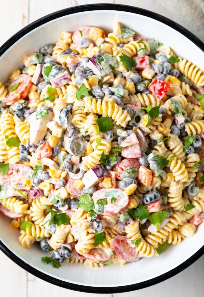 creamy ranch pasta salad southwest gluten-free recipe