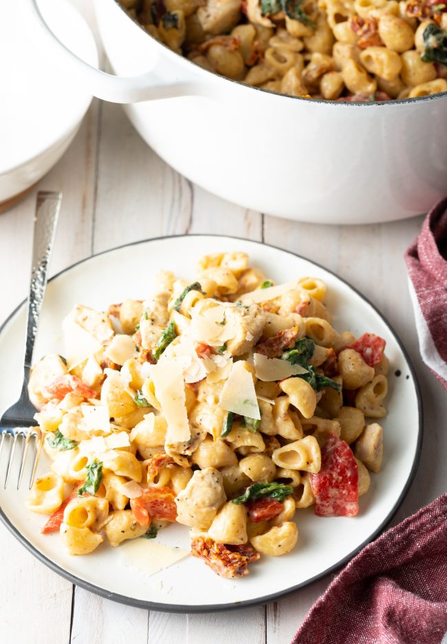 easy recipe for creamy chicken pasta