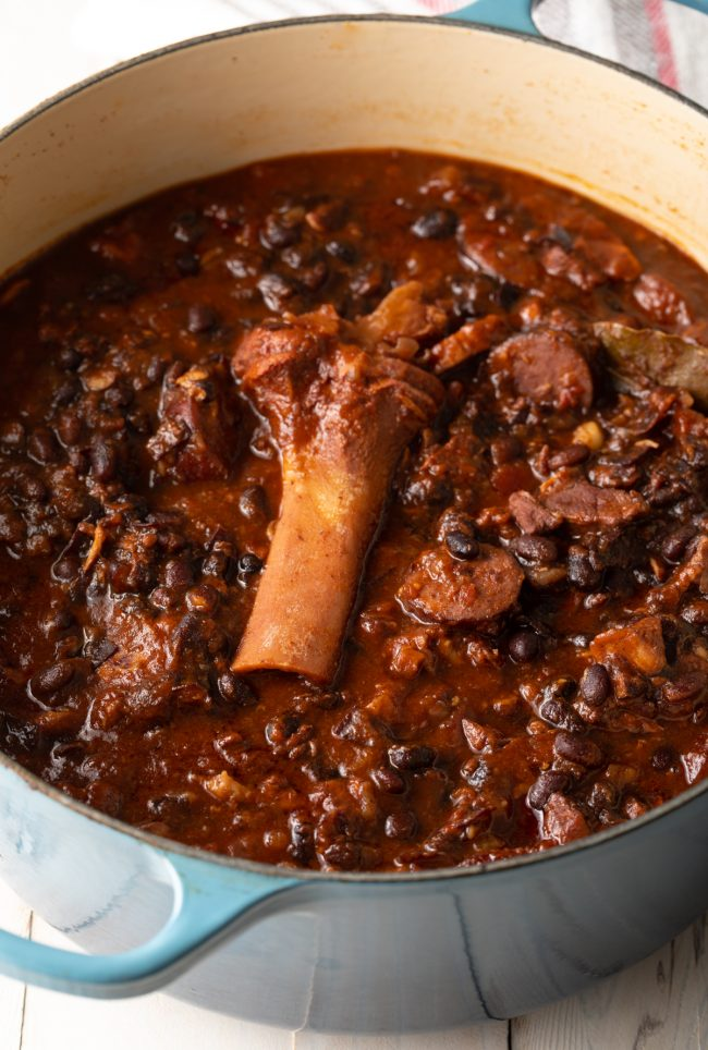 one pot stew with black beans and pork