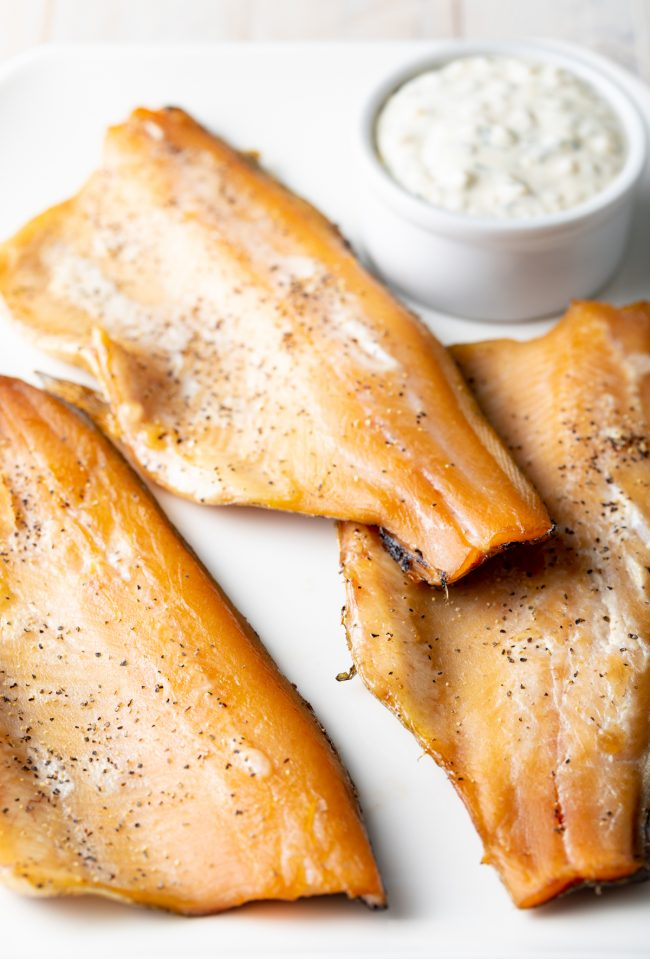 trout with tartar sauce