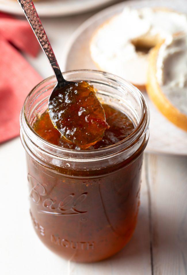 jar of homemade spicy jam