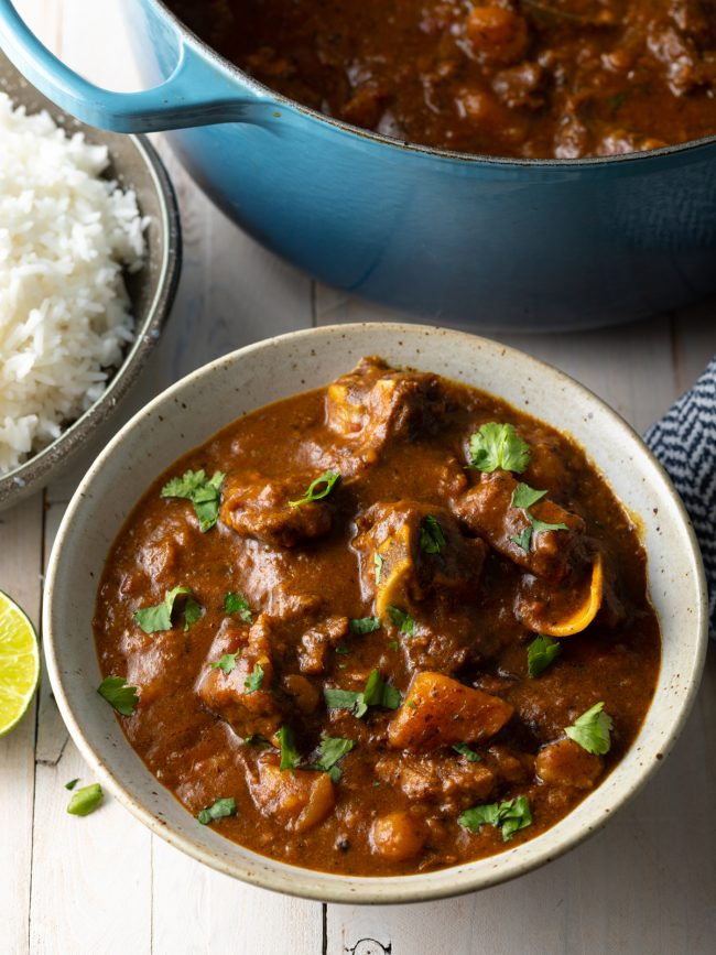 saucy goat curry with potatoes