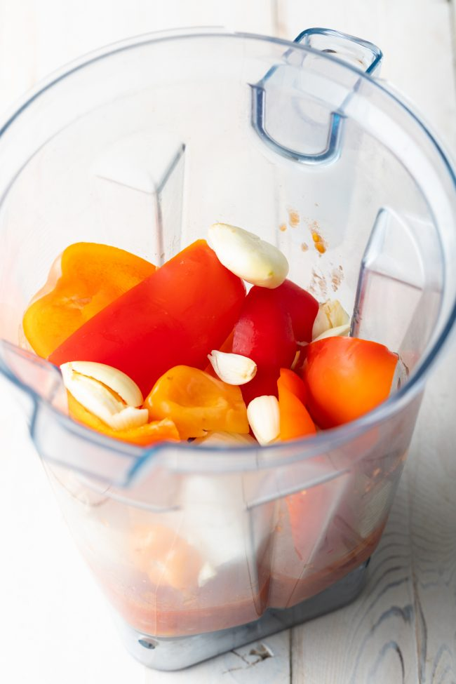 peppers in a blender
