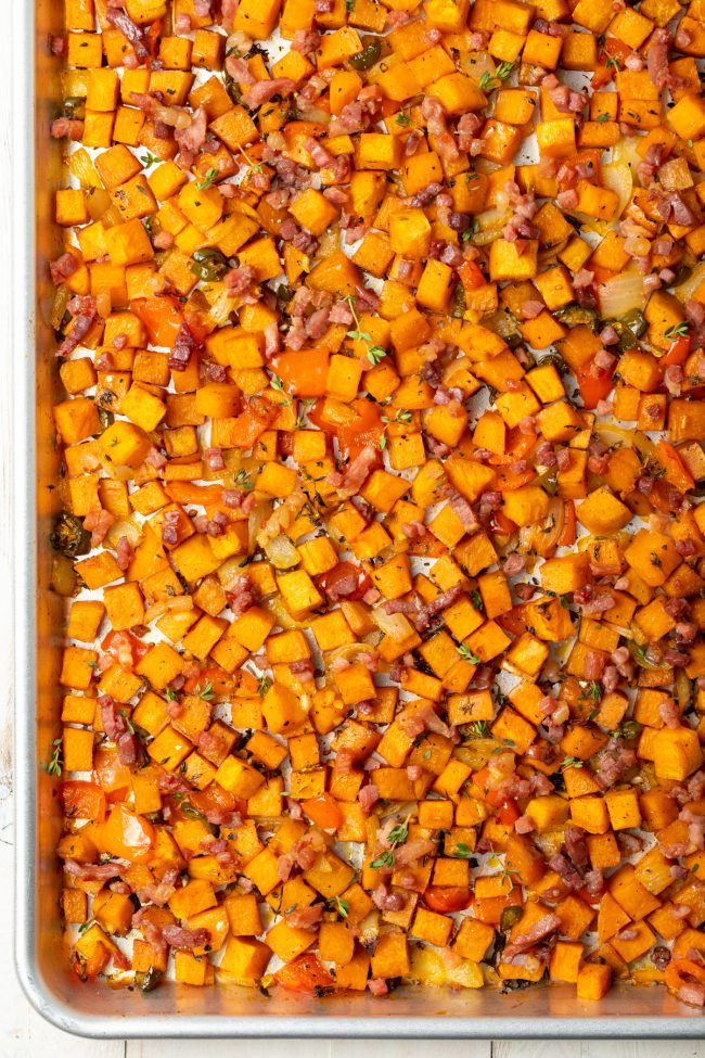 baked sweet potato hash recipe