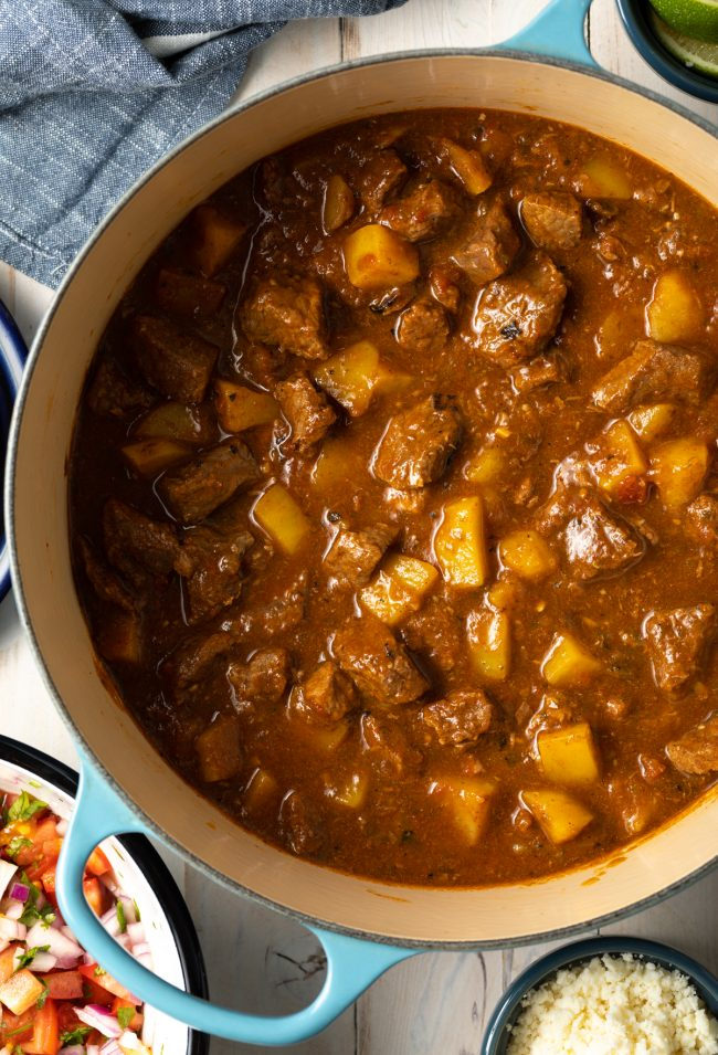 homemade carne guisada