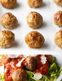 healthy baked turkey meatballs