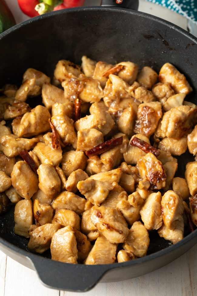 diced cooked chicken