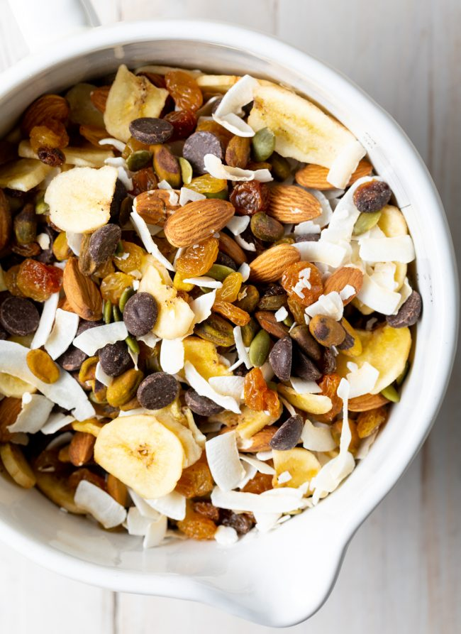 healthy homemade trail mix with seeds and nuts