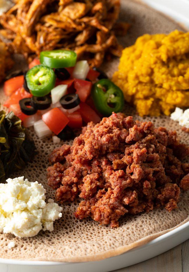 authentic Ethiopian recipes: kitfo