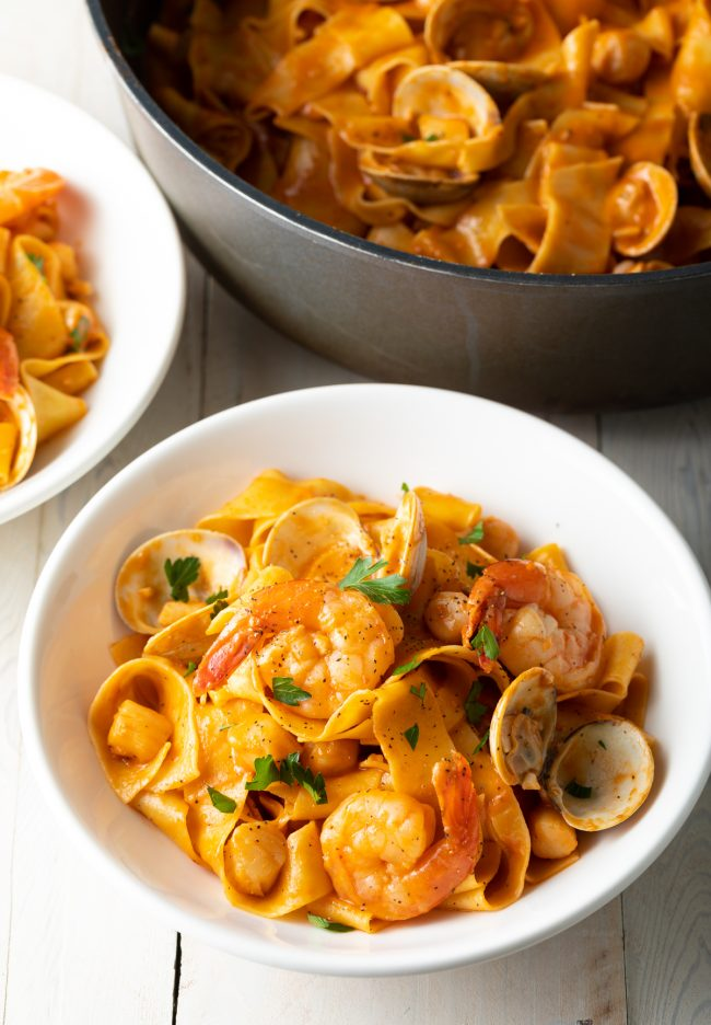 pappardelle pasta with seafood sauce recipe