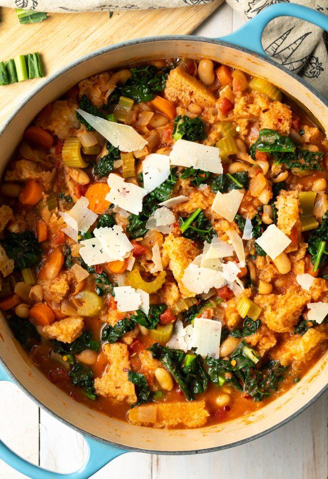 italian bread soup ribollita recipe