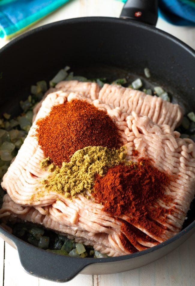ingredients in a skillet