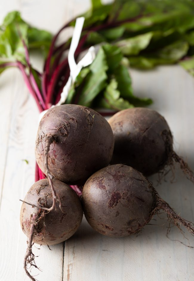 raw unscrubbed beetroot