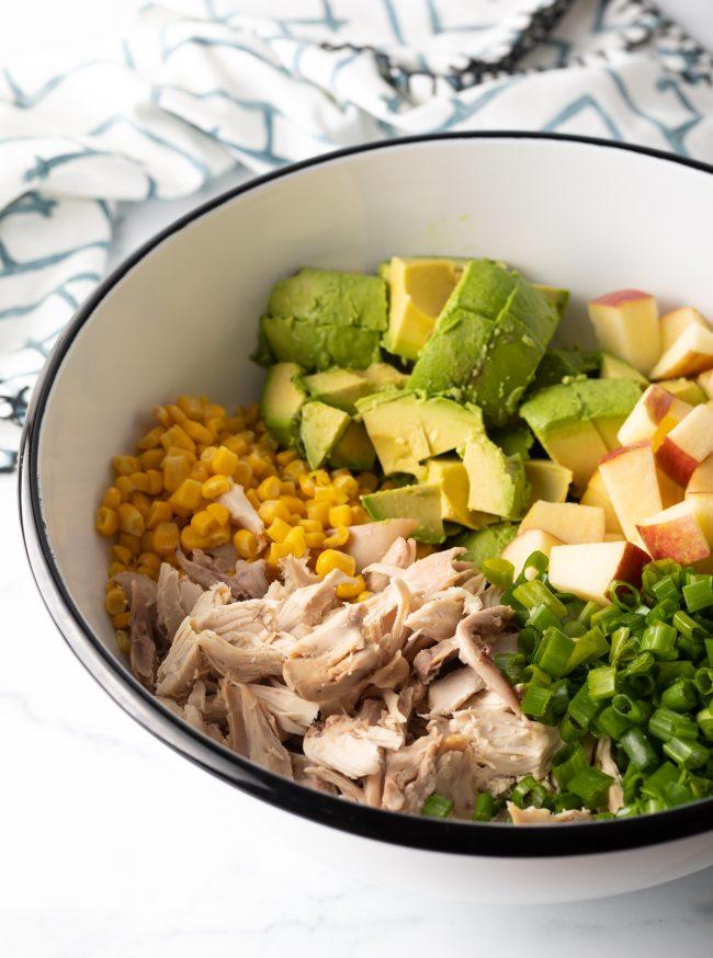 ingredients needed to make avocado chicken salad recipe