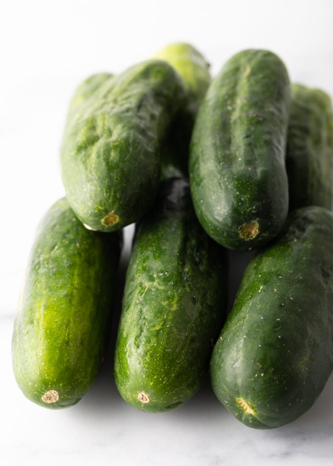 stack of cucumbers