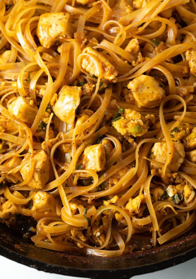 Authentic Easy Chicken Pad Thai Recipe #ASpicyPerspective