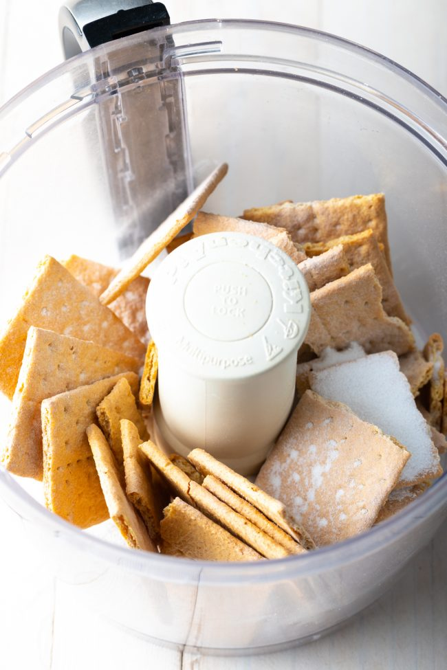 food processor with graham crackers