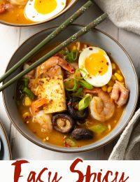 easy spicy shrimp ramen