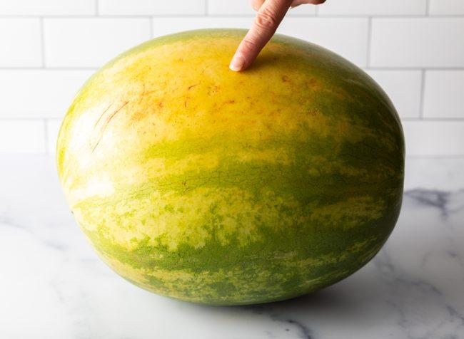 big yellow spot on a watermelon