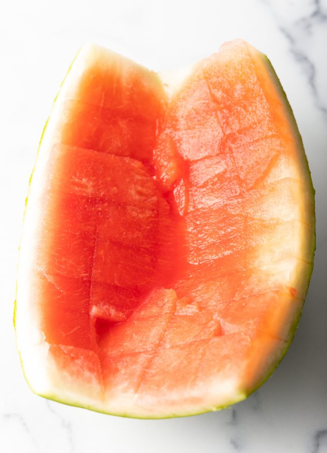rind from a freshly cut watermelon