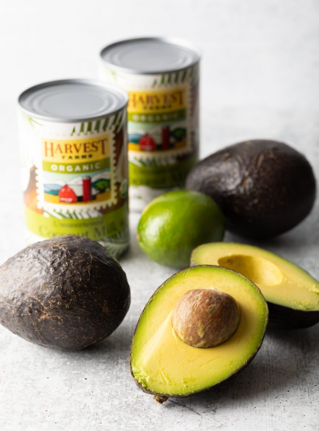 avocados coconut milk and lime