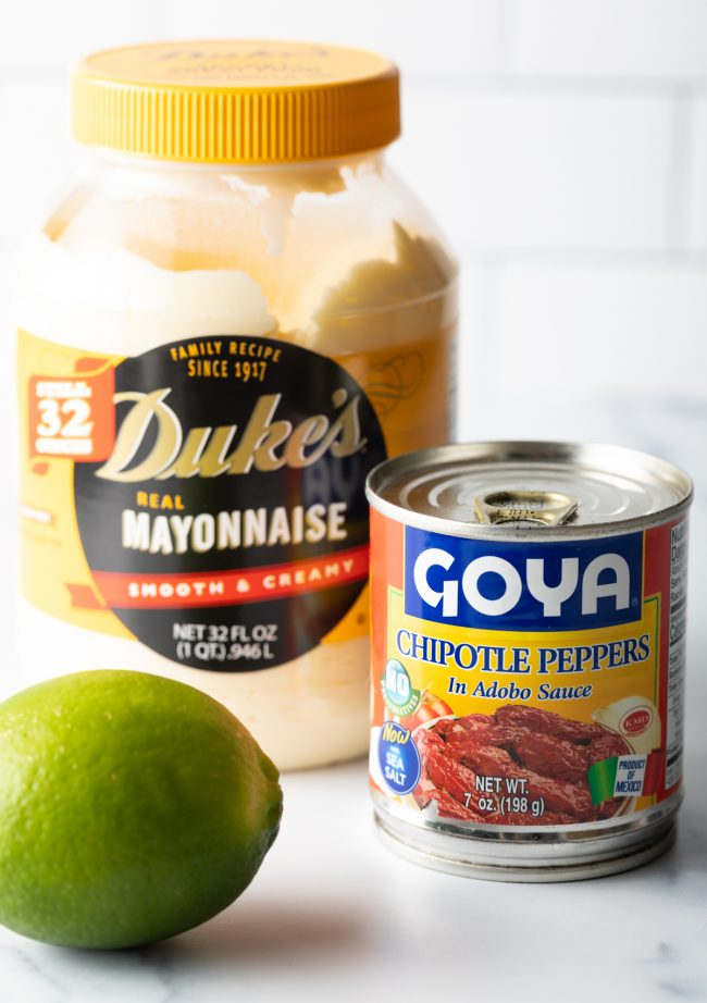chipotle peppers, mayonnaise, lime juice