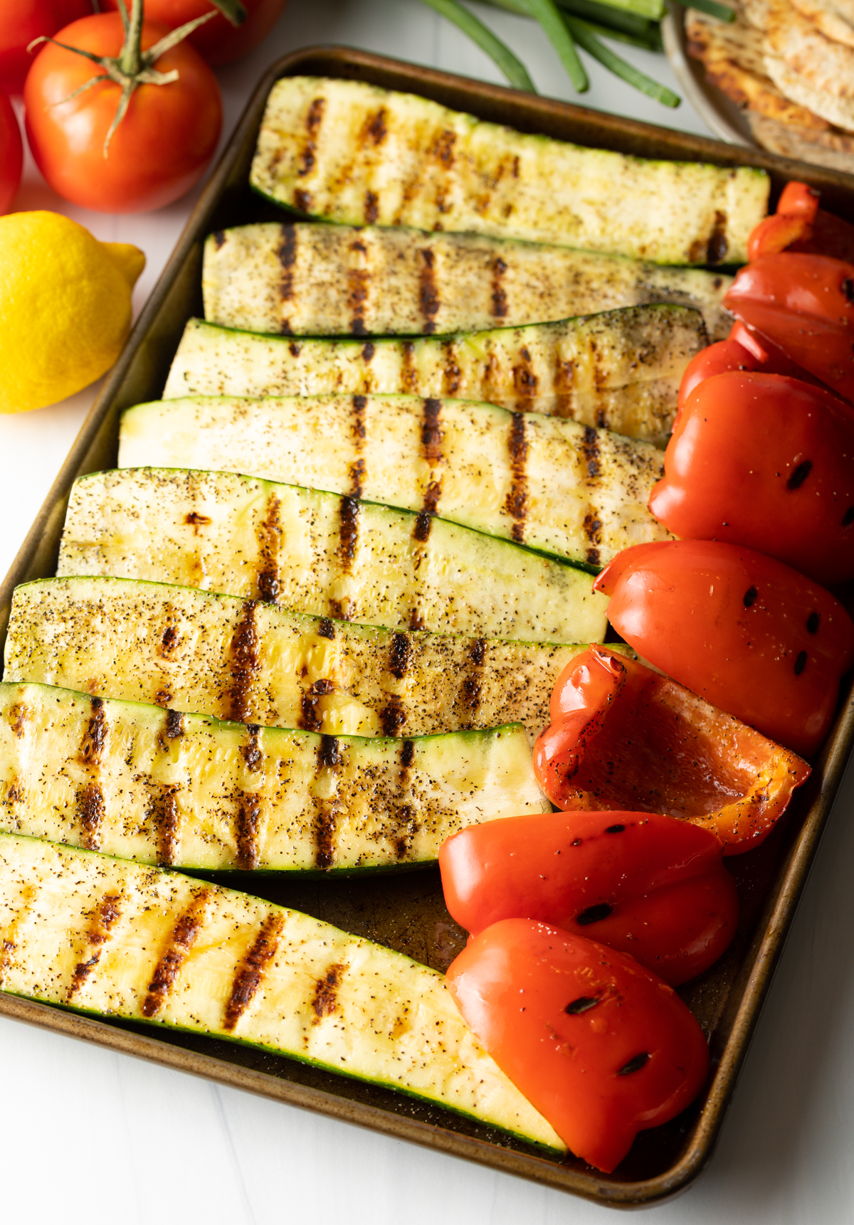 Grilled Vegetables for Fattoush Salad