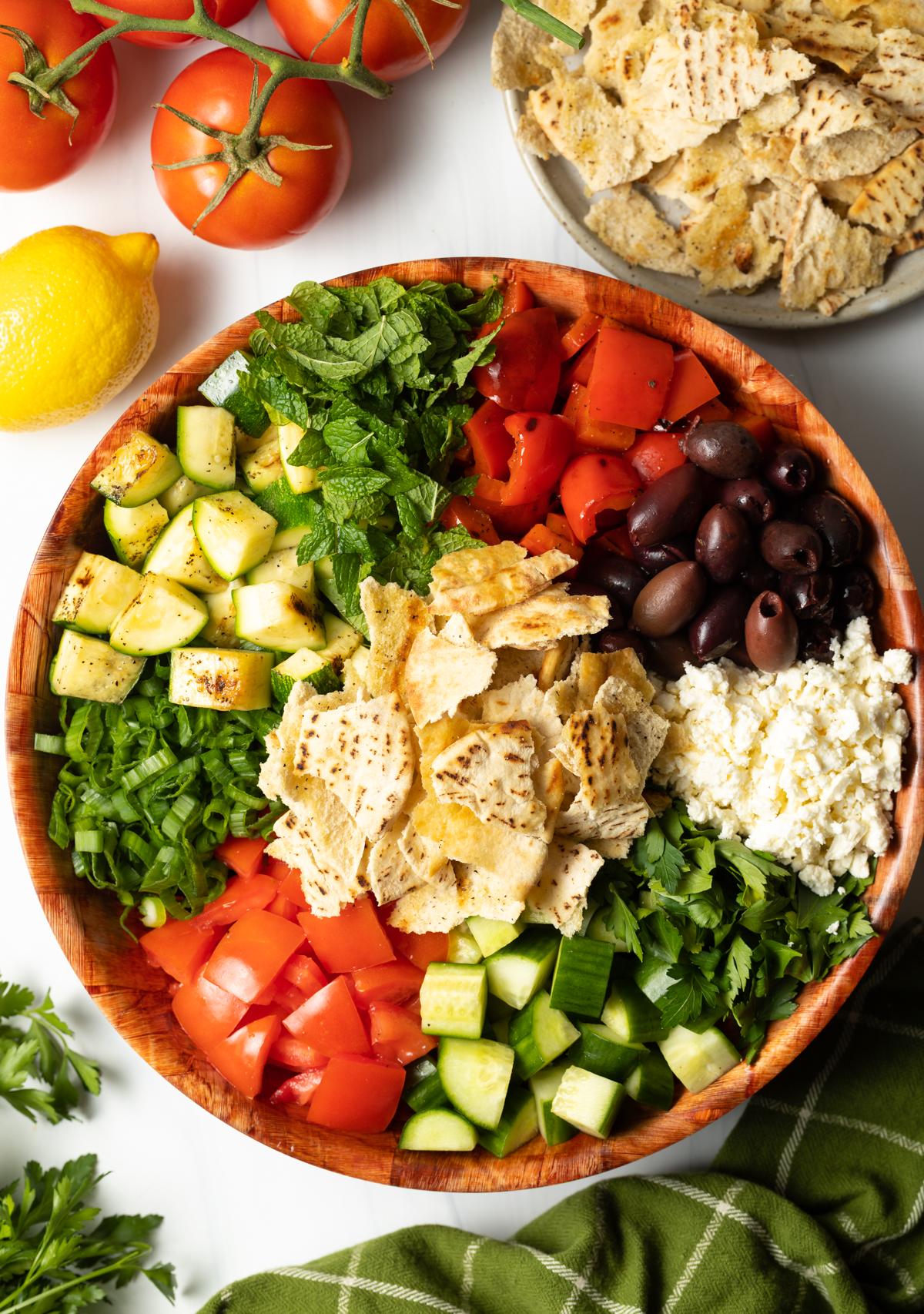 Fattoush Salad Recipe with Pitas