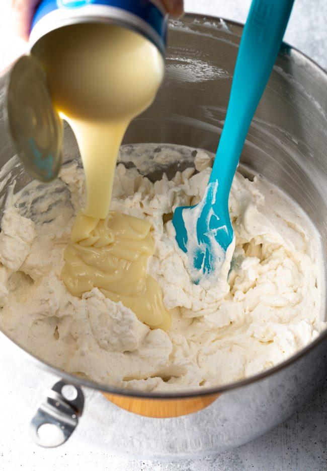 cream and sweetened condensed milk
