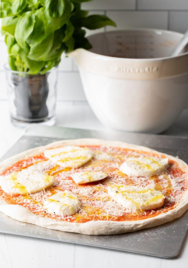 pizza napoletana ready to bake