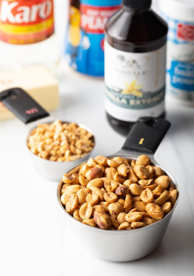 nuts in measuring cups