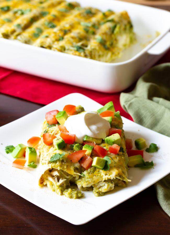 best chicken enchiladas verde