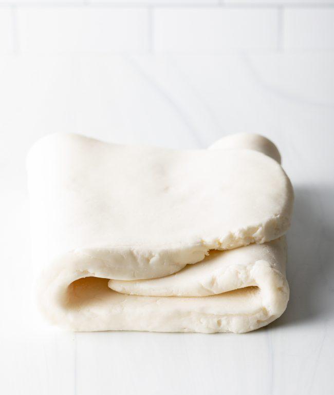 Kneading Marshmallow Fondant