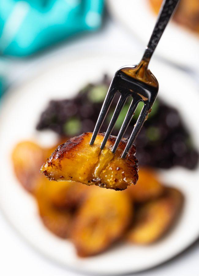 bite on a fork